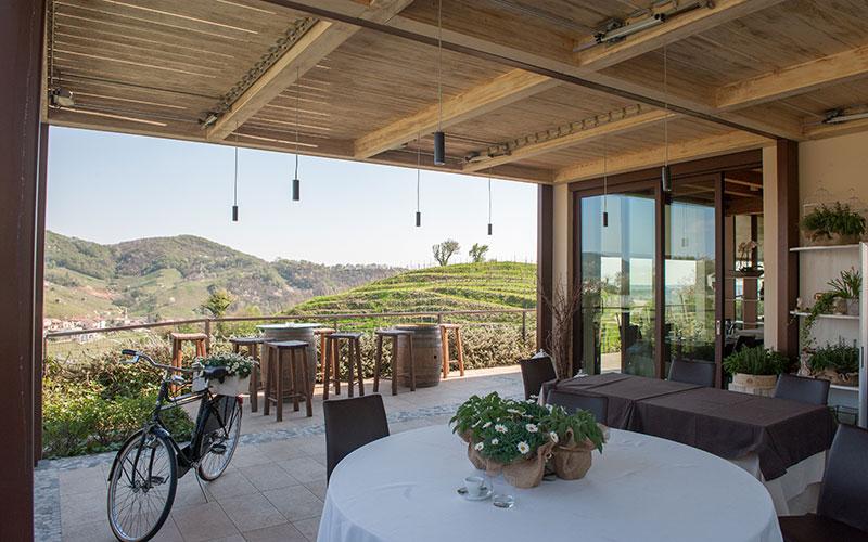 ristorante Salis Valdobbiadene panoramica
