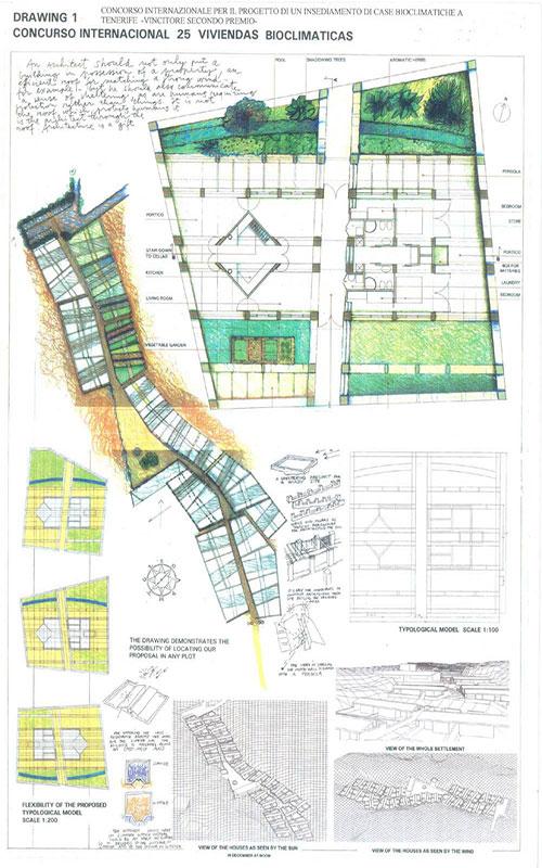 disegno concorso case bioclimatiche