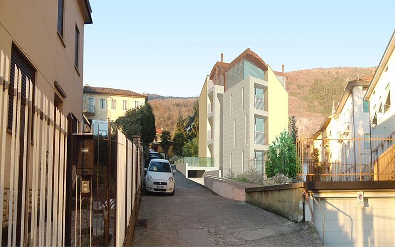 progetto per complesso appartamenti a Valdobbiadene centro storico