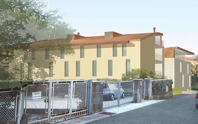 progetto per complesso appartamenti a Valdobbiadene vista nord