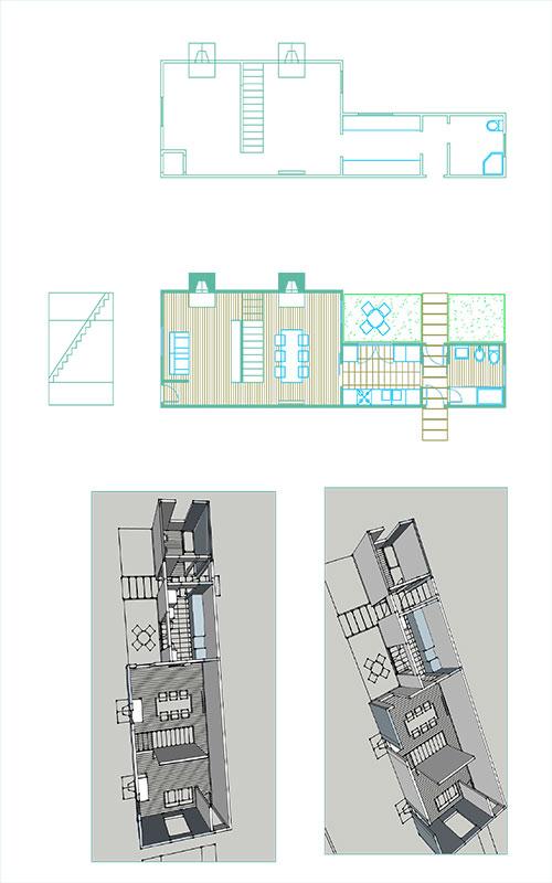 progetto ristrutturazione casa operaia a Londra