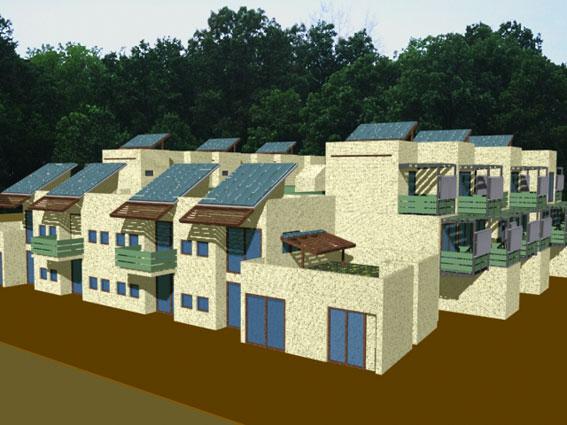 render particolare progetto riconversione in residenze bioclimatiche