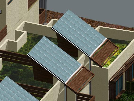 particolare progetto riconversione in residenze bioclimatiche