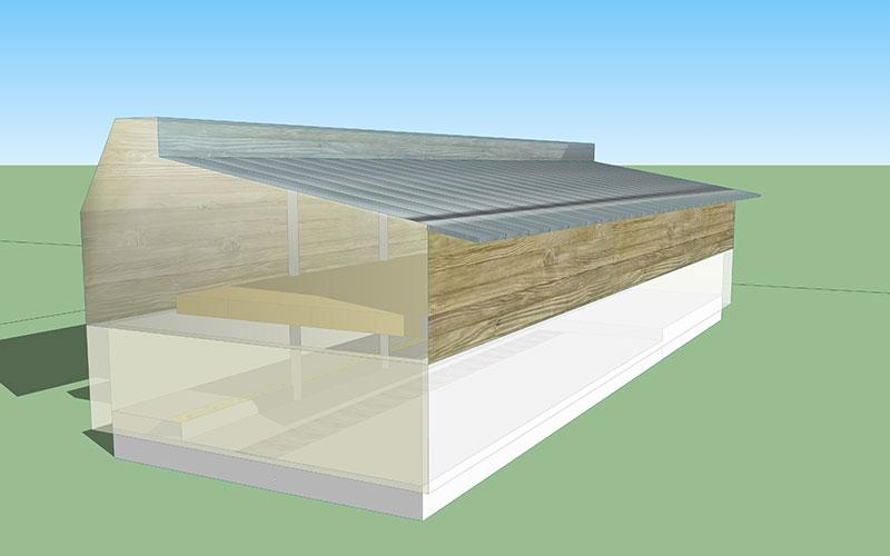 progetto cantina azienda agricola sezione