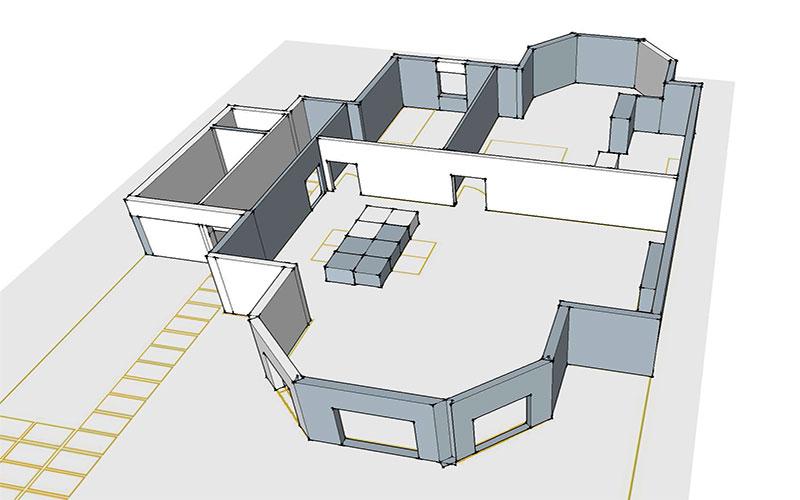 disegno ristrutturazione edificio a Londra