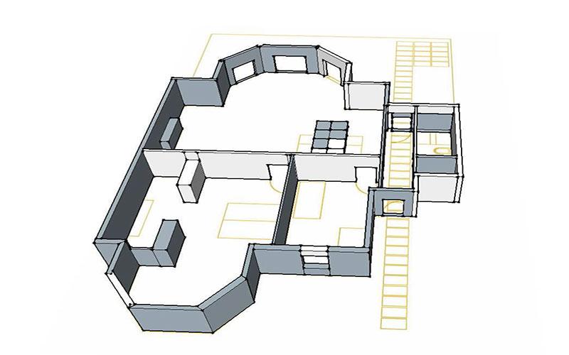 progetto ristrutturazione edificio in stile