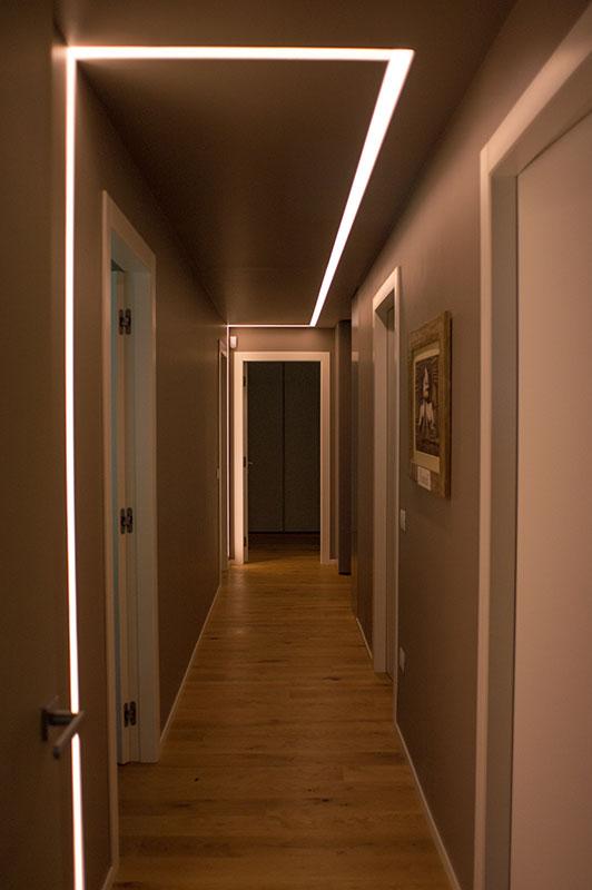 case parco Silea corridoio interno